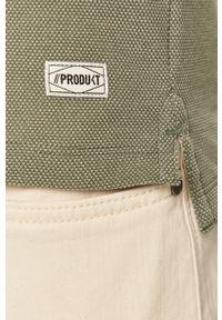 Brązowa koszulka polo PRODUKT by Jack & Jones z nadrukiem, na co dzień, casualowa