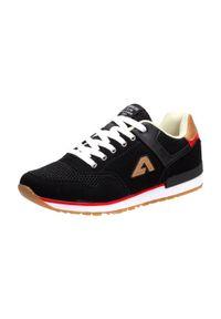 American Club - Sportowe buty męskie AMERICAN CLUB FH01/20 BK. Kolor: czarny. Materiał: tkanina, nubuk