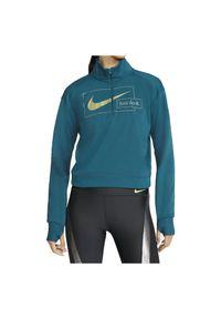Bluza damska do biegania Nike Icon Clash CZ1624. Typ kołnierza: kołnierzyk stójkowy. Materiał: tkanina, materiał, poliester. Technologia: Dri-Fit (Nike). Sport: bieganie