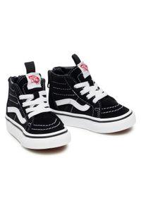 Vans - Sneakersy VANS - Sk8-Hi Zip VN000XG5Y281 Black/White. Kolor: czarny. Materiał: materiał, zamsz. Szerokość cholewki: normalna. Styl: młodzieżowy