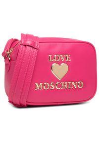 Różowa listonoszka Love Moschino skórzana
