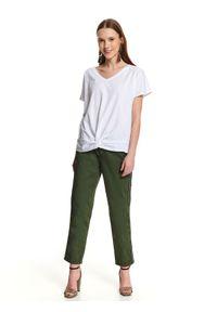 Biały t-shirt TOP SECRET klasyczny, krótki