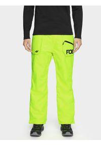 Żółte spodnie snowboardowe 4f na zimę, snowboardowe