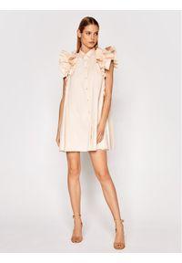 Imperial Sukienka koktajlowa AA5TBBE Beżowy Regular Fit. Kolor: beżowy. Styl: wizytowy