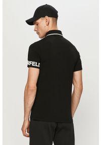 Czarna koszulka polo Karl Lagerfeld klasyczna, polo