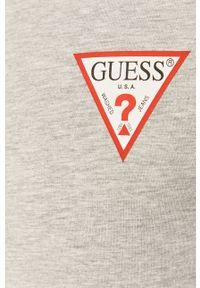 Szara bluza rozpinana Guess casualowa, z aplikacjami