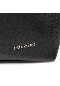 Czarna torebka klasyczna Puccini skórzana, na ramię