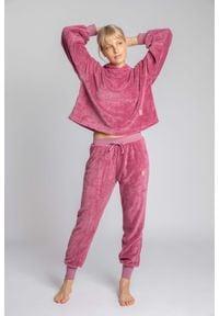 MOE - Pluszowe Spodnie Joggers - Wrzosowe. Kolor: fioletowy. Materiał: poliester