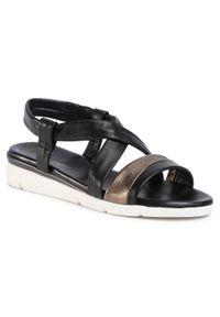 Czarne sandały Salamander casualowe, na co dzień