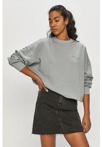 Dr. Denim - Bluza bawełniana. Kolor: szary. Materiał: bawełna, denim. Długość rękawa: długi rękaw. Długość: długie
