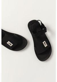 Czarne sandały The North Face gładkie, na rzepy