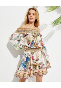 Beżowa sukienka mini Camilla z aplikacjami