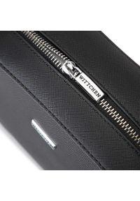 Wittchen - Damska listonoszka pudełkowa. Kolor: srebrny, wielokolorowy, czarny. Materiał: skórzane. Styl: klasyczny. Rodzaj torebki: na ramię