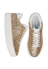 Złote buty sportowe Trussardi Jeans
