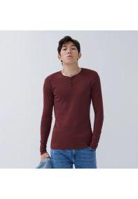 House - Koszulka z długim rękawem - Bordowy. Kolor: czerwony. Długość rękawa: długi rękaw. Długość: długie