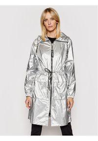Karl Lagerfeld - KARL LAGERFELD Parka Metallic 211W1503 Srebrny Regular Fit. Typ kołnierza: dekolt w karo. Kolor: srebrny