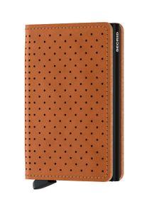 Secrid - Portfel skórzany. Kolor: brązowy. Materiał: skóra
