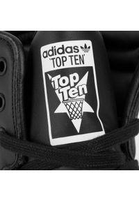 Czarne półbuty Adidas na co dzień, z cholewką