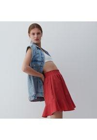 Reserved - Bawełniana spódnica mini - Czerwony. Kolor: czerwony. Materiał: bawełna