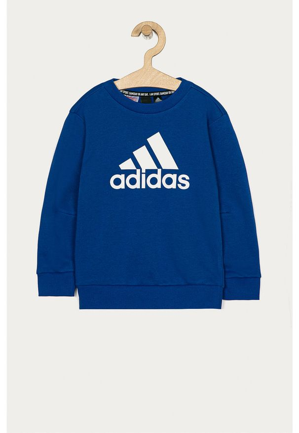 Niebieska bluza adidas Performance na co dzień, casualowa, z nadrukiem