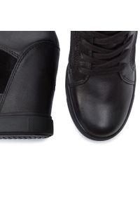 Czarne buty sportowe TOMMY HILFIGER z cholewką, na koturnie