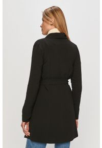 Czarny płaszcz only na co dzień, casualowy, bez kaptura
