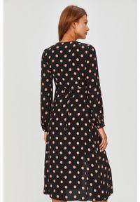 Czarna sukienka Answear Lab wakacyjna, z długim rękawem, midi, na co dzień #5