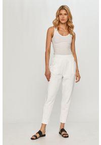 Białe spodnie dresowe Max Mara Leisure gładkie