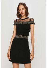 Czarna sukienka Morgan mini, dopasowana