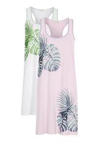 Cellbes Koszula nocna 2 Pack jasnoróżowy biały female różowy/biały 62/64. Kolor: biały, różowy, wielokolorowy. Materiał: jersey, bawełna