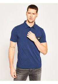 Niebieska koszulka polo Cavalli Class polo