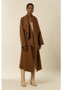 IVY & OAK - Płaszcz Carrieann Rose. Okazja: na co dzień. Kolor: brązowy. Materiał: materiał, wełna. Styl: casual