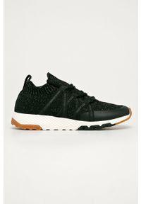 Czarne buty sportowe Pepe Jeans na średnim obcasie, na obcasie, z okrągłym noskiem