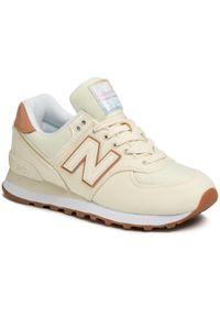 Beżowe buty sportowe New Balance New Balance 574, z cholewką, na co dzień