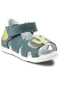 Zielone sandały Mido na lato, z aplikacjami