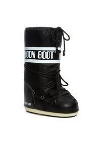 Czarne śniegowce Moon Boot na zimę