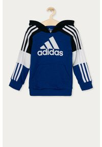 Niebieska bluza Adidas casualowa, na co dzień