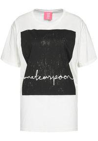 Biały t-shirt One Teaspoon