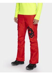 Czerwone spodnie snowboardowe 4f na zimę, snowboardowe