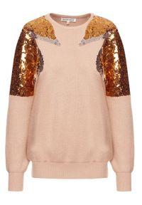 Beżowy sweter klasyczny Silvian Heach