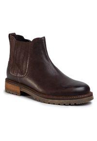 Brązowe buty zimowe Gino Rossi z cholewką, eleganckie