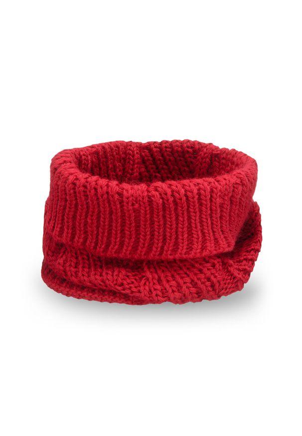 Komin damski PaMaMi - Czerwony. Kolor: czerwony. Materiał: poliamid, akryl