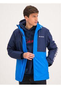 Niebieska kurtka sportowa columbia narciarska