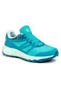 Niebieskie buty do biegania salomon z cholewką, Gore-Tex