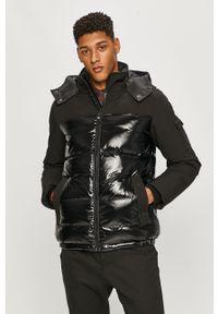 Czarna kurtka Calvin Klein na co dzień, z kapturem, casualowa