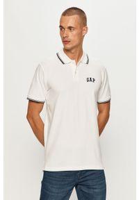 Biała koszulka polo GAP casualowa, na co dzień, krótka