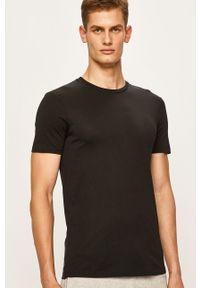 Armani Exchange - T-shirt. Okazja: na co dzień. Kolor: czarny. Materiał: dzianina. Wzór: gładki. Styl: casual