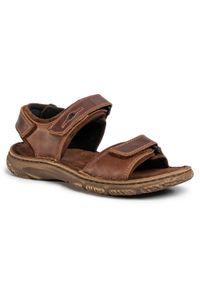 Brązowe sandały Josef Seibel klasyczne, na lato