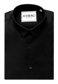 Czarna koszula biznesowa Iceberg