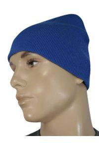Niebieska czapka EM Men's Accessories casualowa, na jesień